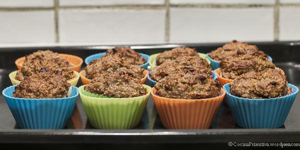 Muffins de plátano y zanahoria